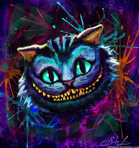 cheshire cats painting the cheshire cat by ex0tique on deviantart