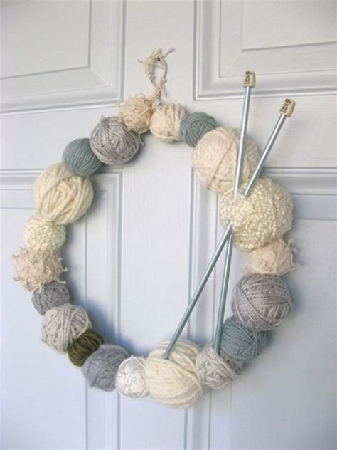 knit home knitted wreaths