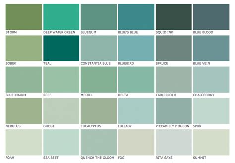 paint colors blue green blues and greens at paint library katy elliott