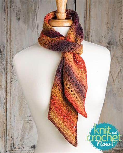 knit and crochet now episodes free bias crochet scarf crochet pattern