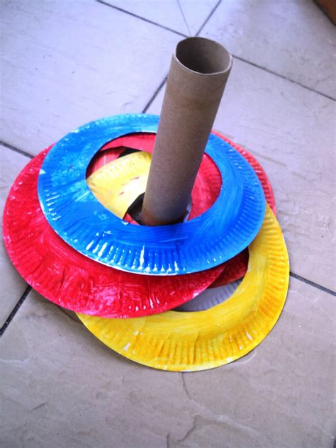 paper plate crafts a learning for two paper plate ring toss