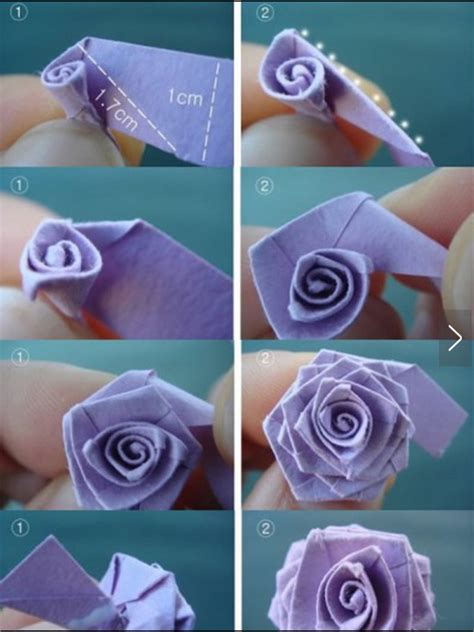 origami paper roses with paper origami method fit for