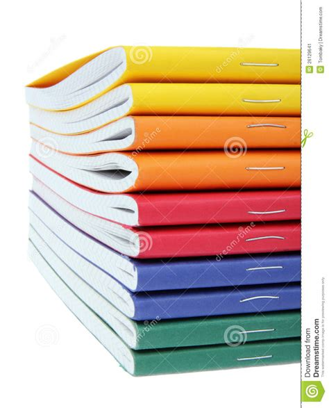 pictures for book multicolored exercise books stock image image 26129641