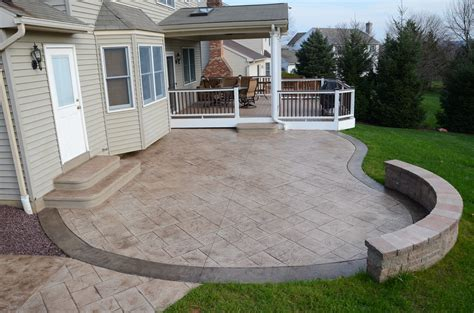 backyard concrete patio designs sted concrete patio 171 signature concrete design