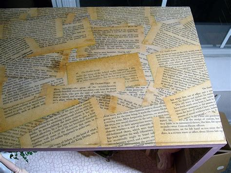 decoupage with book pages pin by henrickson on craft ideas