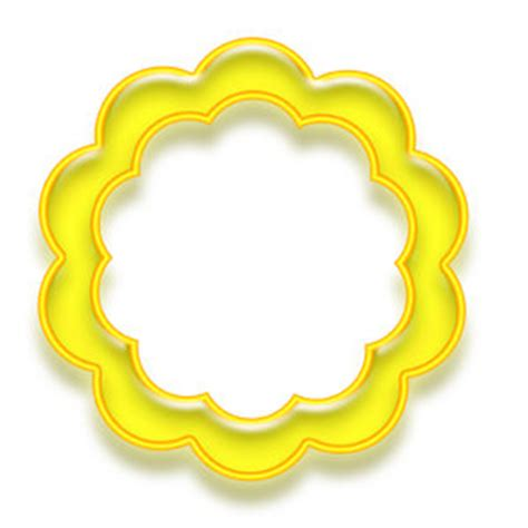 outlines rubber sts flower circle border