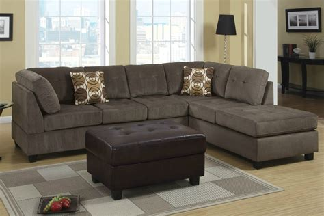 sectional sofa microfiber mocha microfiber two tone living room storage sleeper sofa