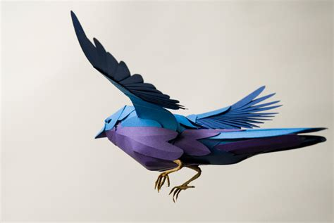 paper bird crafts paper birds by andy singleton colossal
