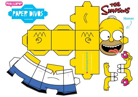 paper craft toys homer en papertoy homer paper toys and