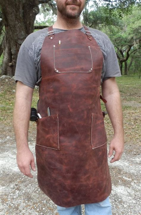 leather woodworking apron leather apron welder woodworker steunk tanned