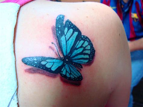 mariposa en 3d tatuajes para