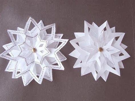 3d snowflakes paper craft snowflake 4 3 layer snowflake paper folding