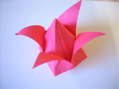 origami cutting origami tulip 183 an origami tulip 183 origami on cut out keep