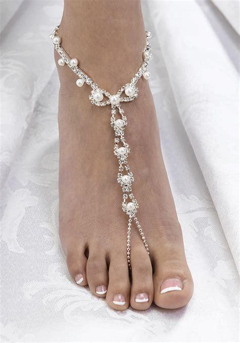 how to make foot jewelry pearl rhinestone foot jewelry favething