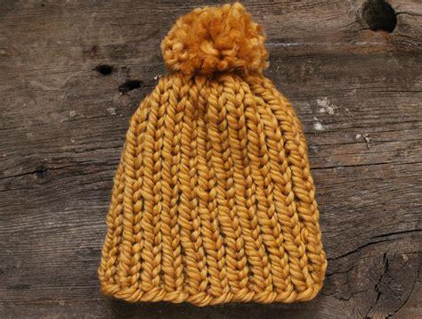 arm knit a hat diy arm knit striped rib stitch blanket simplymaggie