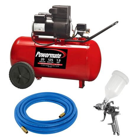 portable paint sprayers home depot powermate 3 hvlp gravity feed spray gun kit 010