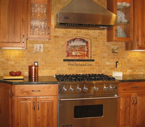 pictures of kitchen tile backsplash vineyard view kitchen tile backsplash with grapes vines