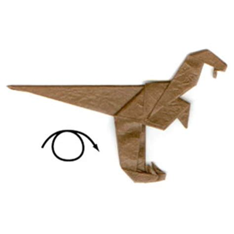 how to make an origami velociraptor how to make a simple origami velociraptor page 11
