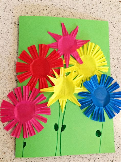 children s cards to make summer bouquet greeting card craft skip to my lou