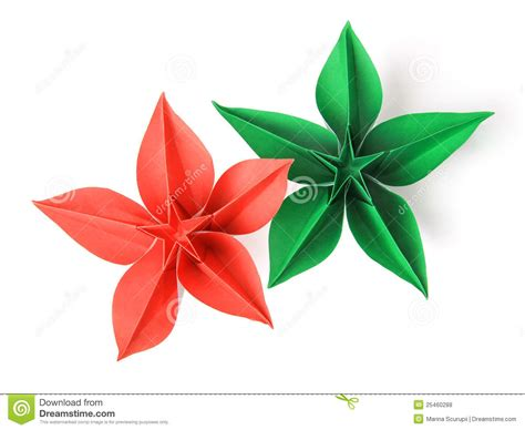 2d origami flower flower origami royalty free stock photos image 25460288
