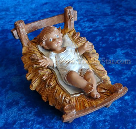 baby jesus in the crib baby jesus with crib 12 quot scale fontanini nativity holy