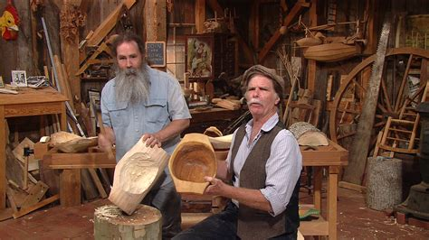 pbs woodworking show s35 ep8 bowl carving with follansbee
