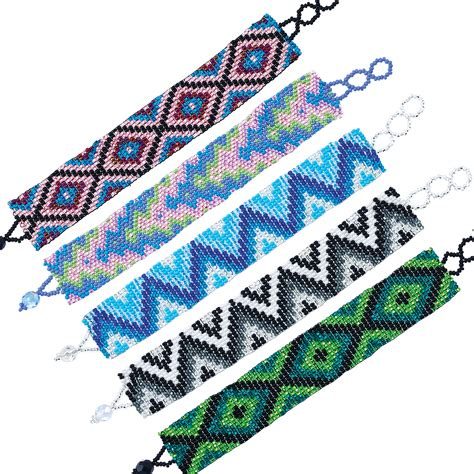 how to make bead jewelry patterns wide assorted seed bead pattern bracelet