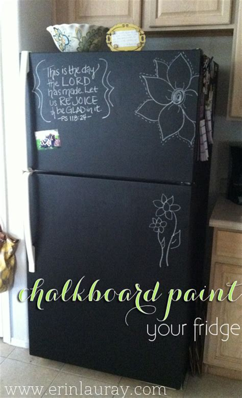 chalkboard paint diy chalkboard painting a fridge
