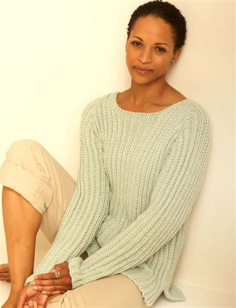 how to knit a motif on a jumper easy casual pullover allfreeknitting