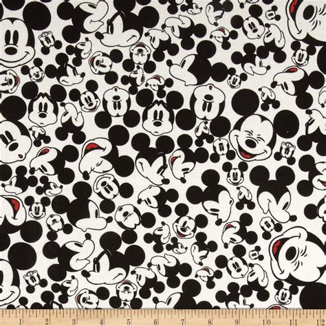disney knit fabric disney knit many faces of mickey white discount designer