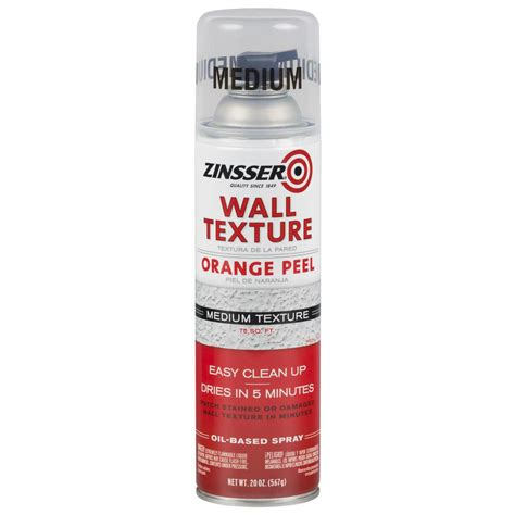spray paint peel zinsser 20 oz wall texture medium based orange peel
