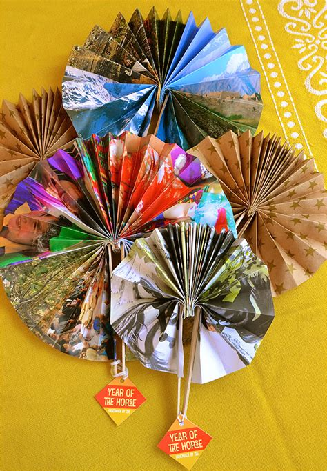 paper fan craft for handmade paper fans for new year gift favor