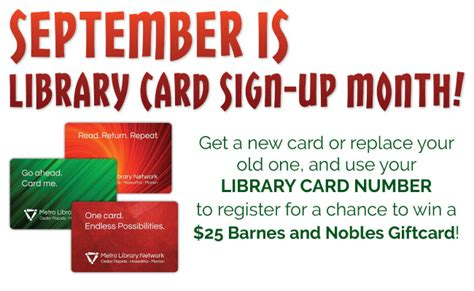 stin up on cards library card sign up month marion library
