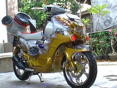 Modifikasi Motor Model Sepeda by Otomotif Modifikasi Mobil Motor Aksesoris Audio Gambar