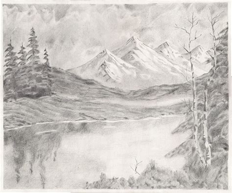 landscapes to draw image gallery mountain landscape drawings