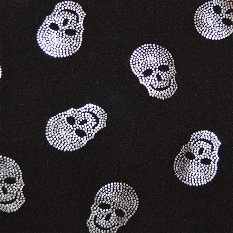 skull knit fabric black silver skull knit 43129x fashion fabrics