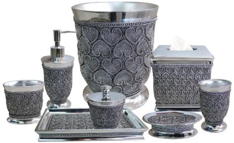 silver bathroom accessories sets about cool bathroom decor cool bathroom decor