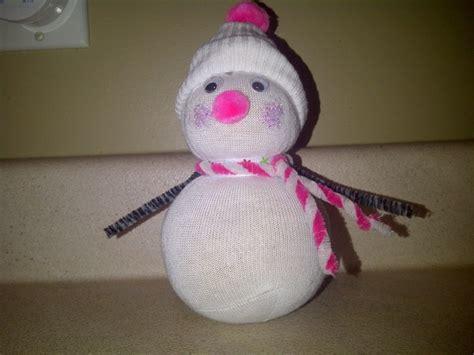 sock crafts for sock snowman craft kid