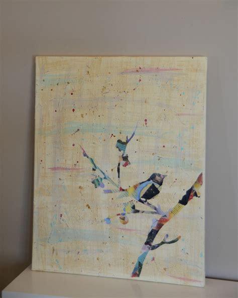 mod podge acrylic paint on canvas quot summer social quot guest project make a mod podge