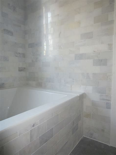 The Cuban In My Coffee: Master Bathroom Progress, Carrara Marble Mosaic Tiles