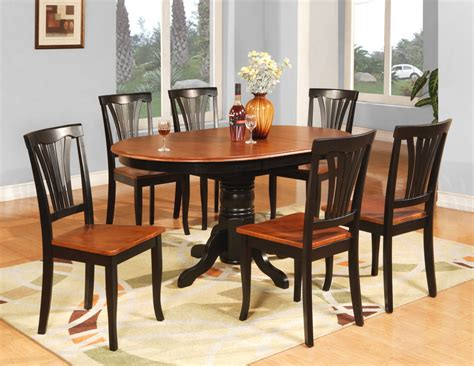 kitchen dinning table 7 pc oval dinette kitchen dining room table 6 chairs ebay
