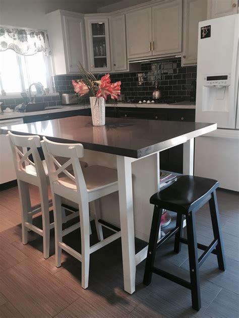 ikea kitchen island stools best 25 ikea island hack ideas on
