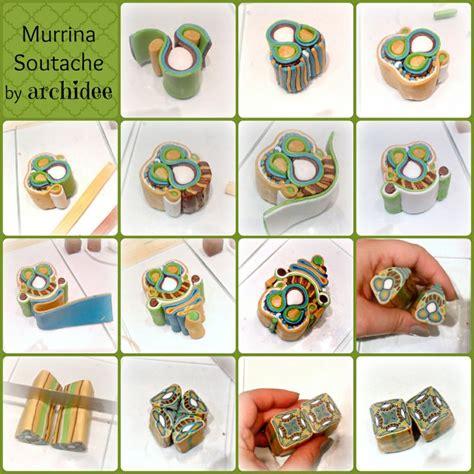 polymer clay tutorial polymer clay soutache millefiori tutorial by archidee