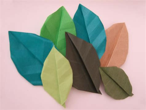 origami with leaf origami fall leaves paper kawaii