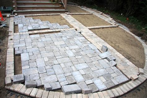 how to install a paver patio how to install paver patio recent work affordable how