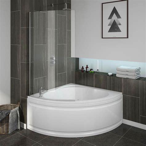 small baths with showers laguna corner shower bath with screen panel