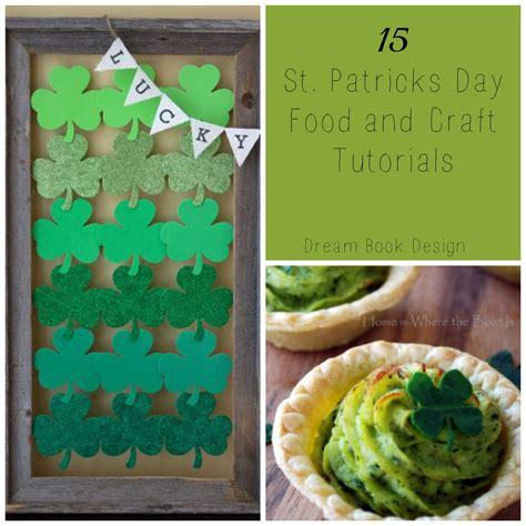 patricks day crafts st patricks day crafts and food book design