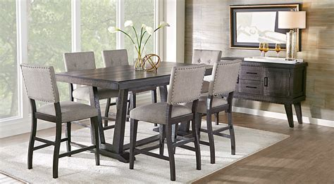 dining room counter height sets hill creek black 5 pc counter height dining room dining