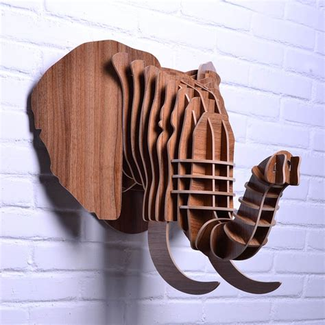 wood decoration aliexpress buy diy wooden elephant for wall
