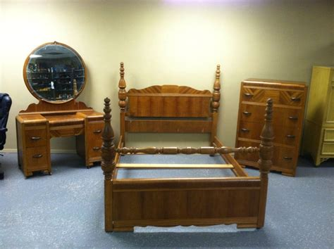 1930s bedroom furniture antique deco waterfall style 1930s 3 pc bedroom